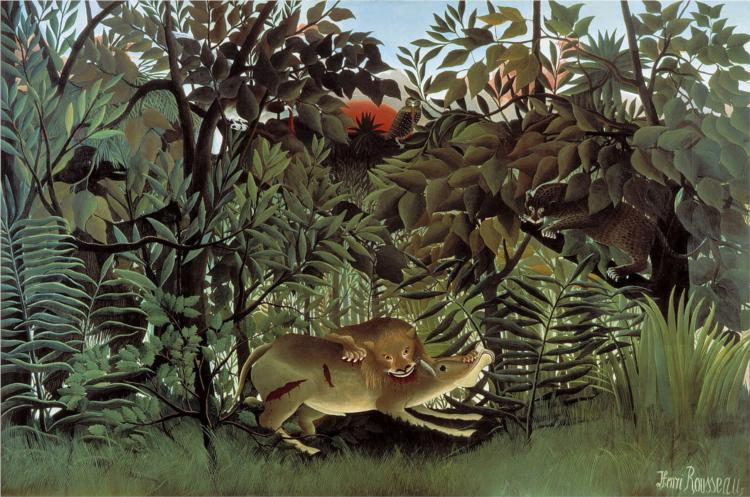 Group-Douanier Rousseau peintre francais the hungry lion throws itself on the antelope.jpg.jpg